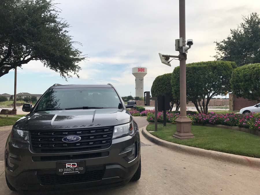 Image shows Ford Explorer in Frisco and redirects to more information about our dealership, Reagor Dykes Directo Auto of Dallas serving the Frisco region ?with doorstep delivery