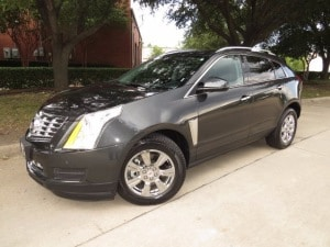 Silver 2015 Cadillac SRX to lease in Dallas