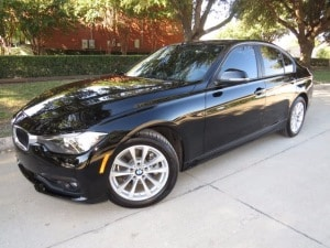 Black 2016 BMW 320i for lease in Dallas