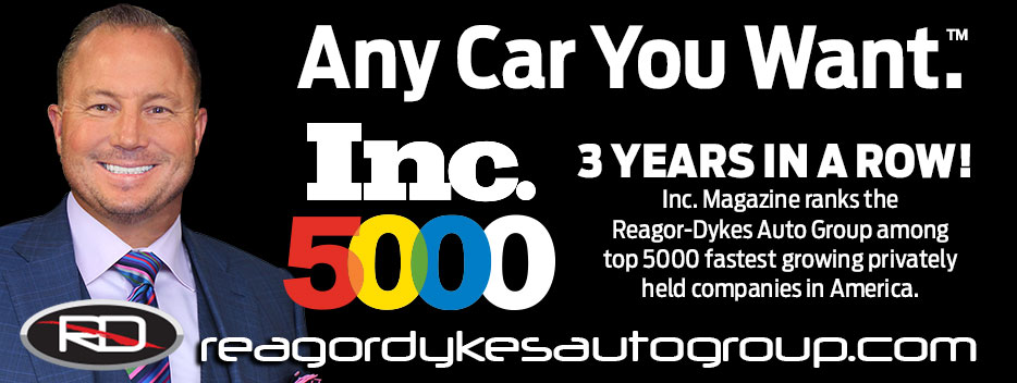 Inc 5000: 3 Years in a row. Inc Magazine ranks the Reagor Dykes Auto Group among the top 5000 fastest growing privately held companies in America.