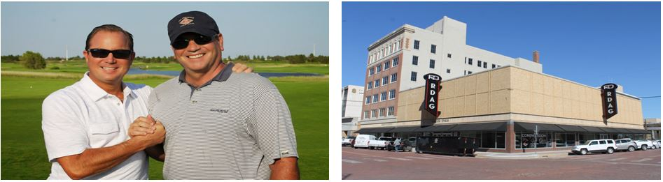 Bart Reagor and Rick Dykes and the Reagor Dykes Headquarters also called Green Building in downtown Lubbock