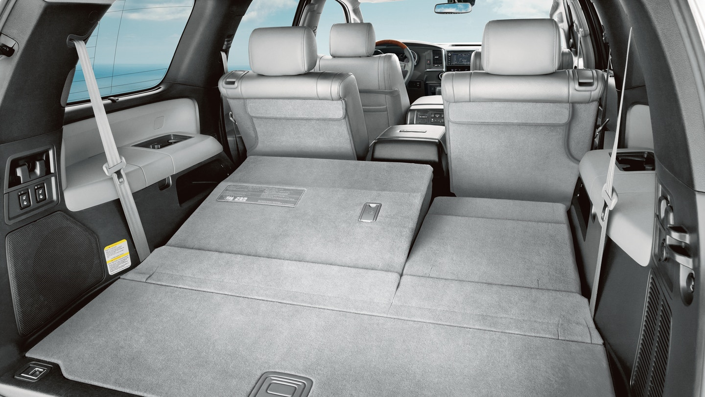 Toyota Sequoia trunk space