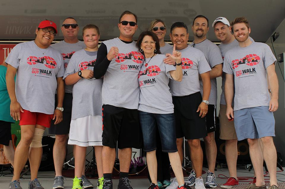 Bart Reagor and team at the National American Diabetes Association event- Step Out: Walk to stop Diabetes