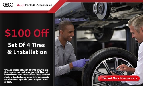 $100 Off A Set Of 4 tires and Installation
