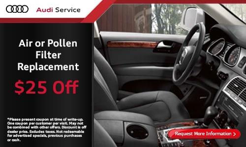 $25 Off Air Pollen Filter