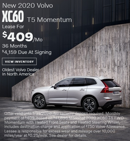 New 2020 Volvo XC60 T5 Momentum - January Special