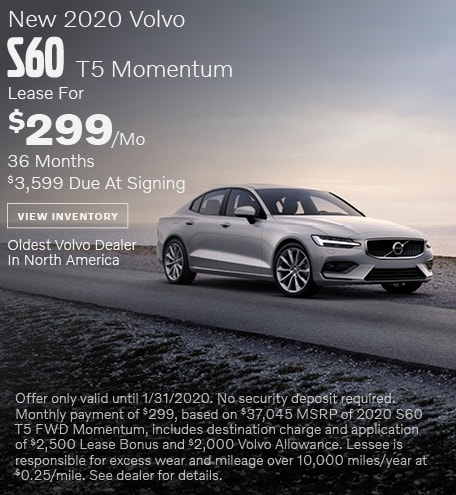 New 2020 Volvo S60 T5 Momentum - January Special