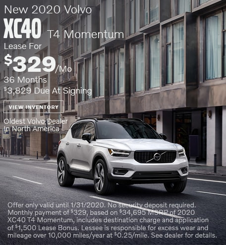 New 2020 Volvo XC40 T4 Momentum - January Special
