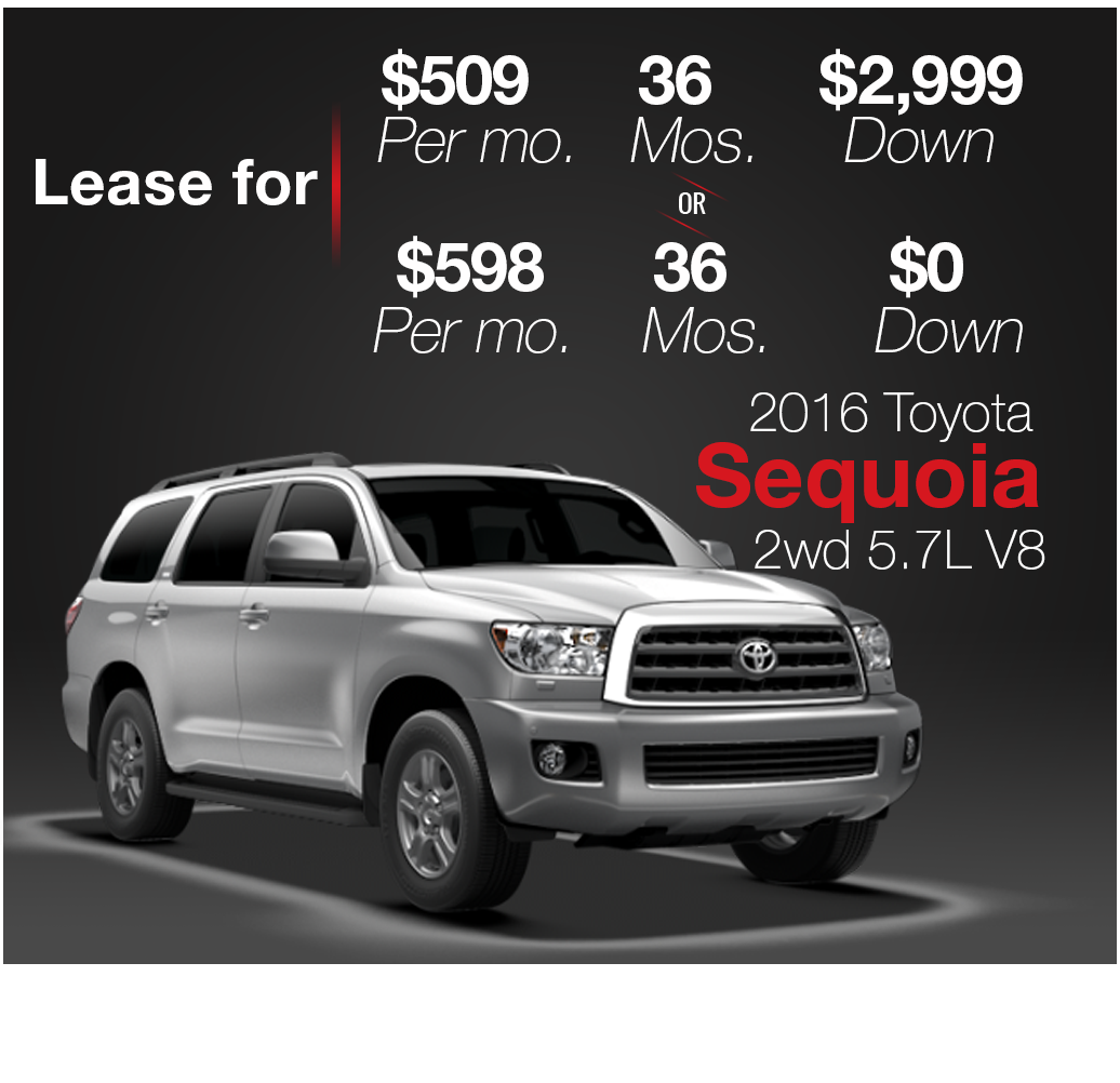 Brooklyn Staten Island Car Leasing Dealer: Toyota Sequoia Lease Deals