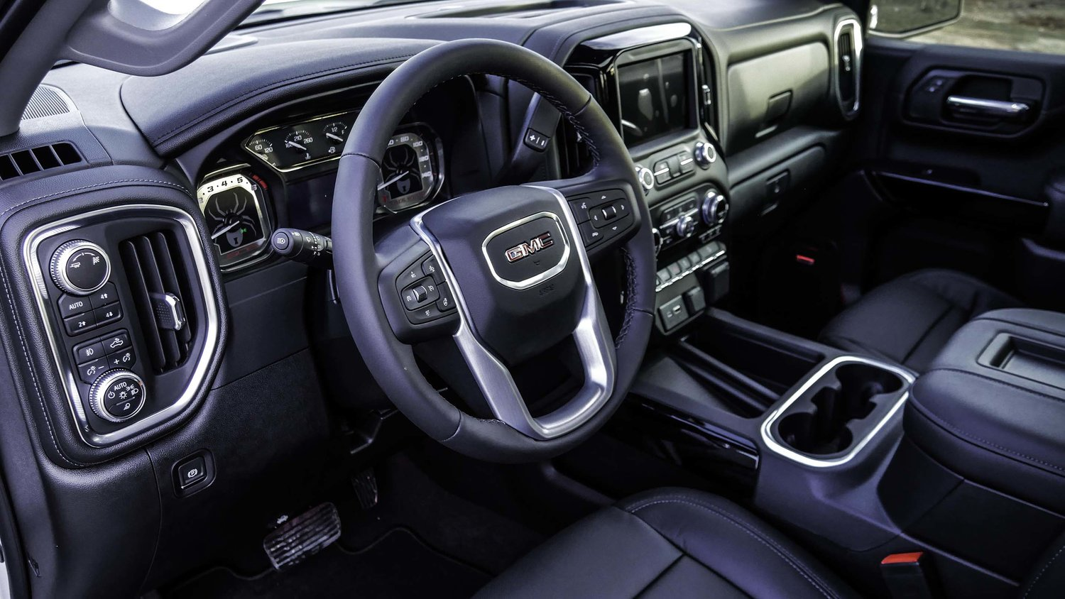 2019 GMC Sierra Black Widow Interior Dashboard