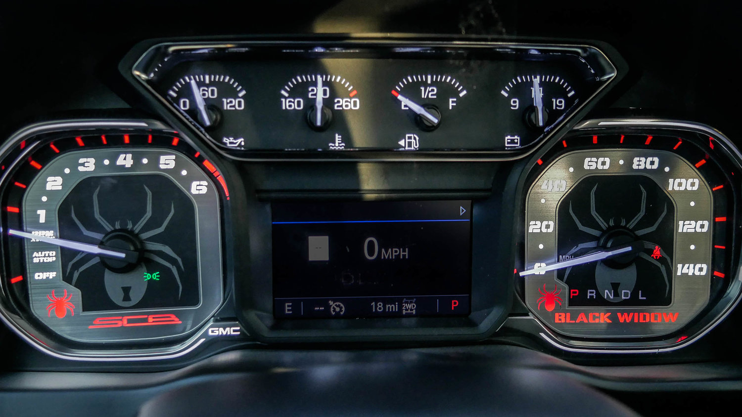 2019 GMC Sierra Black Widow Gauge Cluster