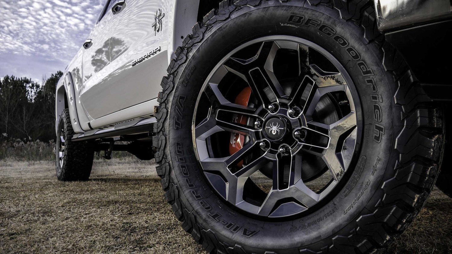 2019 GMC Sierra Black Widow Wheels