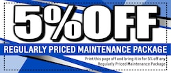 Reed October! Save 5% On Service!