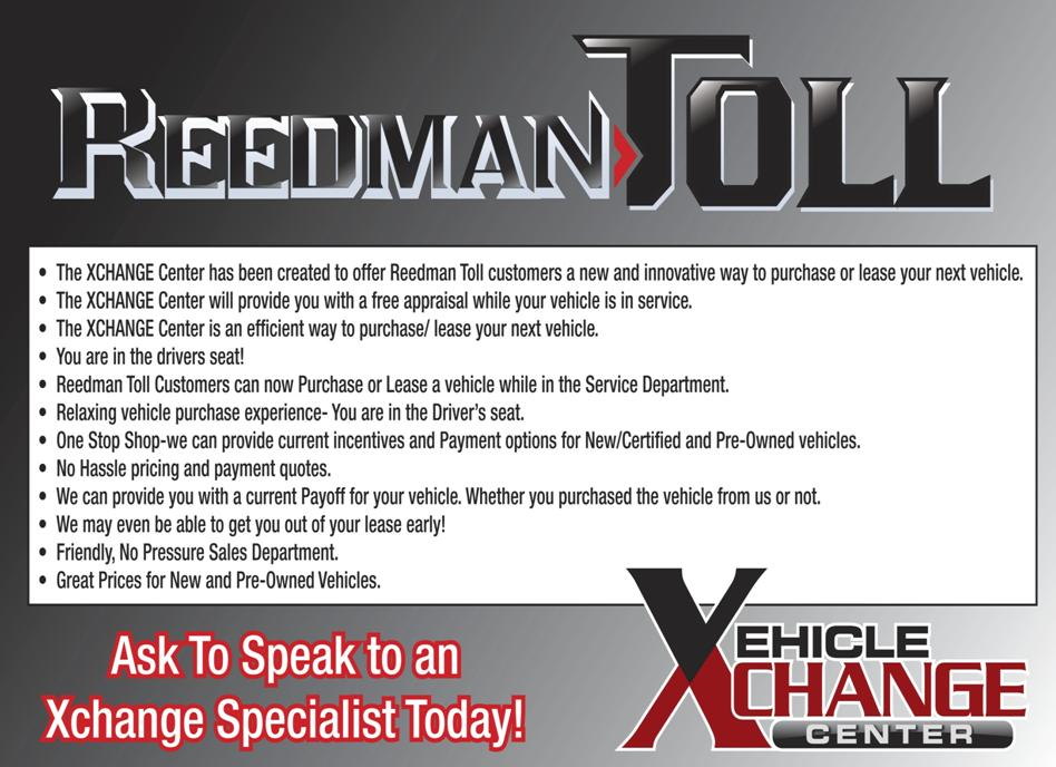 Reedman Toll Service >> Vehicle Exchange Program PA   Used Car Trade-In Center ...