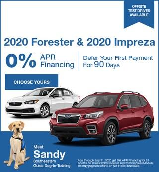 July - 2020 Forester & 2020 Impreza
