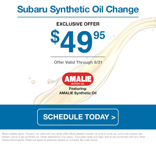 August 2020 Oil Change Special