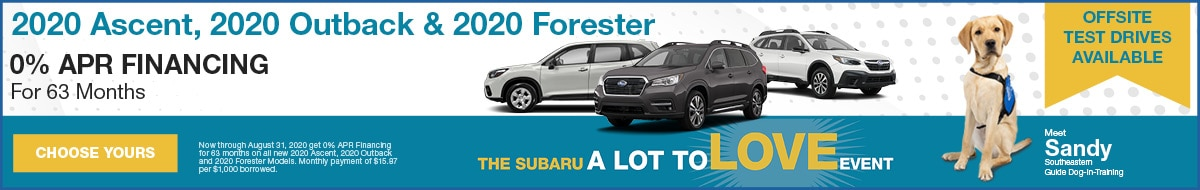 2020 Ascent, 2020 Outback & 2020 Forester