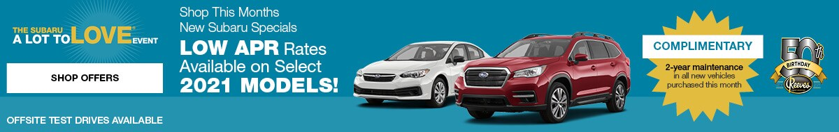 Shop This Months New Subaru Specials