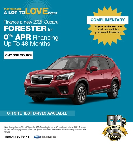 Finance a new 2021 Subaru Forester for