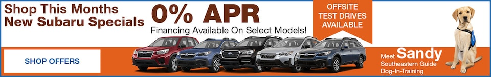 Shop This Months New Subaru Specials October