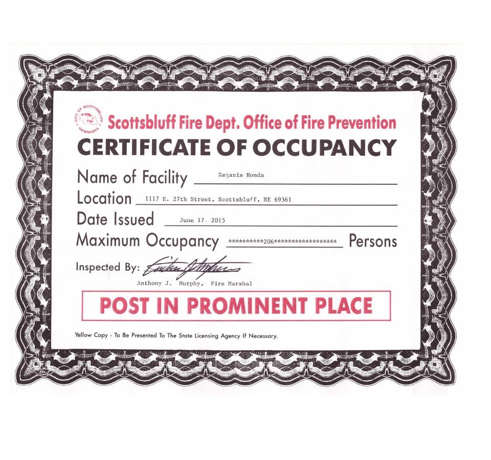 News blog post list reganis honda certificate of occupancy xflitez Gallery