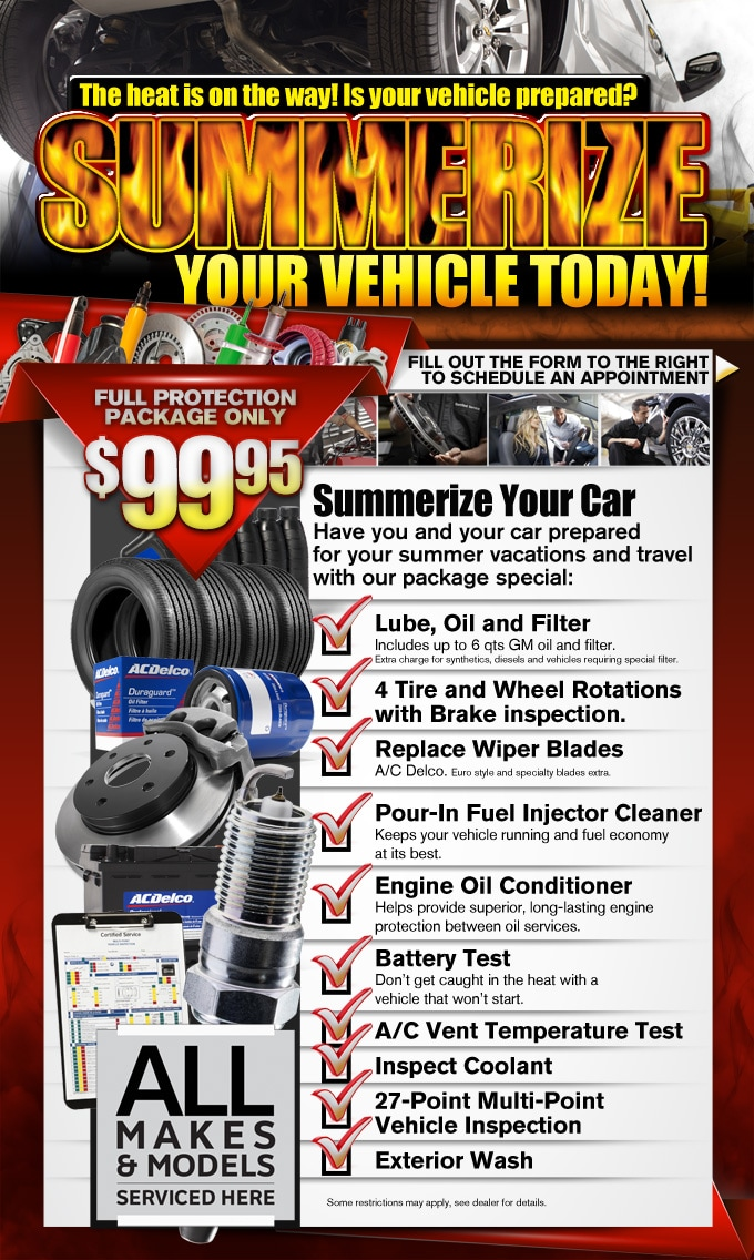 Summer Auto Service Package Special Springfield Mo Chevrolet