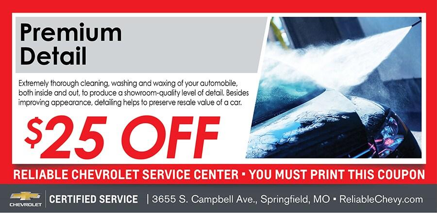 Premium Detail | Reliable Chevrolet Service Springfield MO