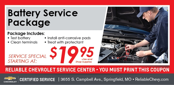 Battery Service | Reliable Chevrolet Service Springfield MO