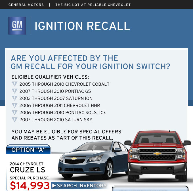 Chevy Ignition Switch Recall | Springfield MO
