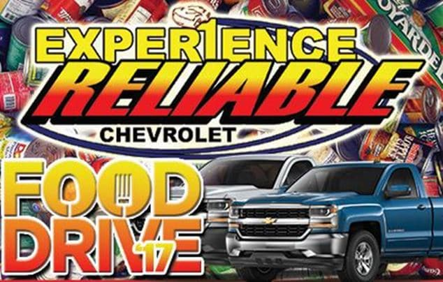 Experience Reliable Chevrolet Food Drive