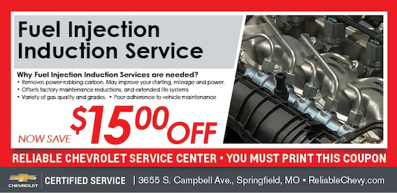 Reliable Chevrolet Springfield Mo >> Fuel Injection Flush Coupon Chevy Service Springfield Mo