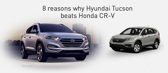 Eight Reasons Why Hyundai Tuscon Beats Honda CR-V