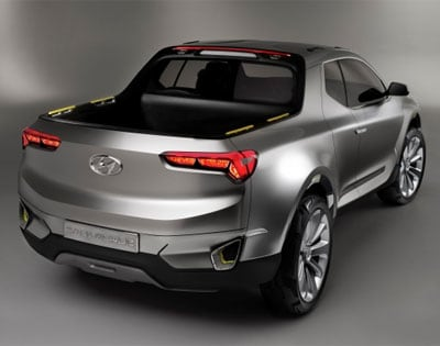 Hyundai Santa Cruz Pickup Truck Rear