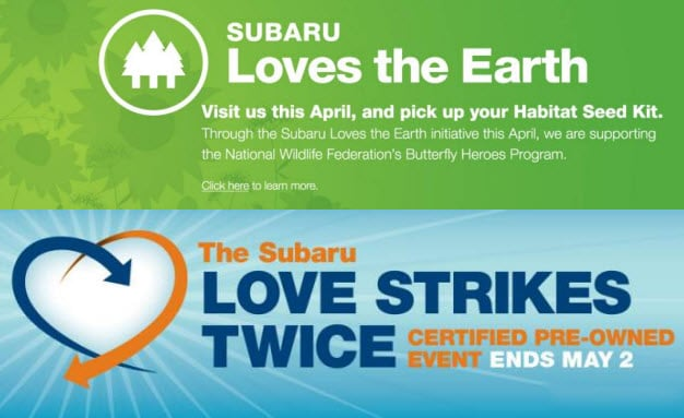 Subaru loves the earth