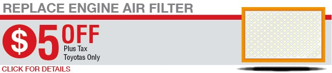 Replace Engine Air Filter Coupon, Springfield