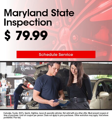 Maryland State Inspection 7/10/2019