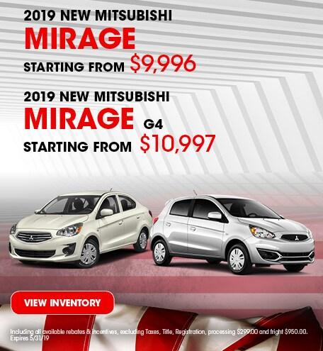 New 2019 Mitsubishi Mirage 5/3/2019