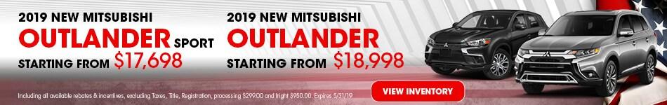 New 2019 Mitsubishi Outlander and Outlander Sport 5/3/2019