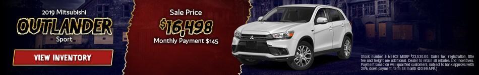 New 2019 Mitsubishi Outlander Sport 10/1/2019