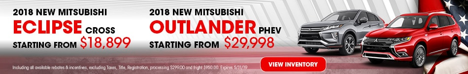 New 2018 Mitsubishi Eclipse Cross and Outlander PHEV 5/3/2019