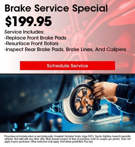Brake Service 7/10/2019