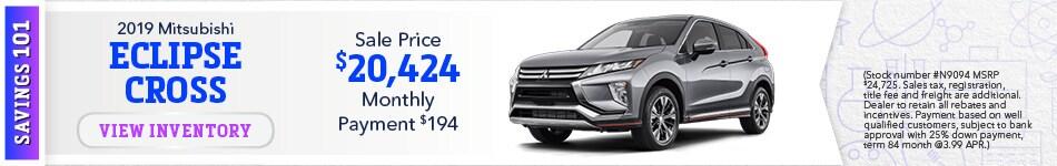New 2019 Mitsubishi Eclipse Cross 9/17/19