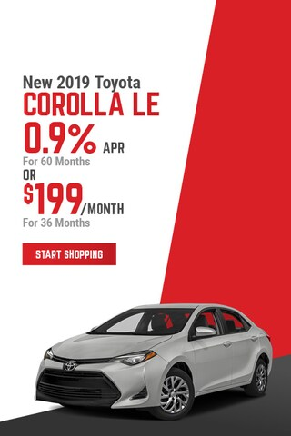 New 2019 Toyota Corolla LE April Offer