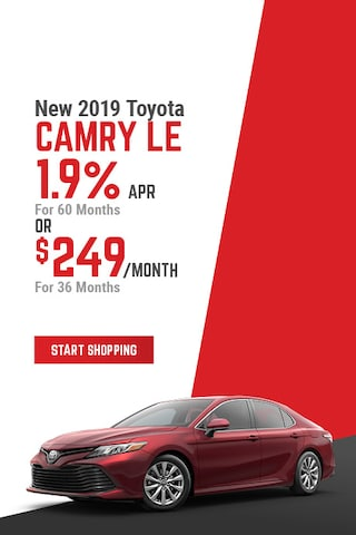 New 2019 Toyota Camry LE April Offer