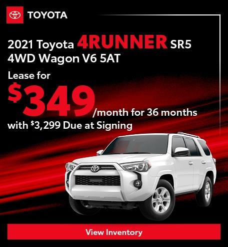2021 Toyota 4Runner SR5 4WD Wagon V6 5AT