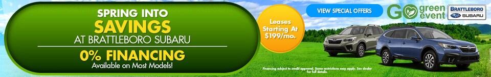Spring Into Savings at Brattleboro Subaru