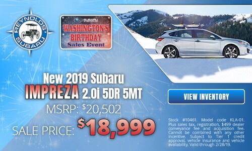 New 2019 Subaru Impreza 2.0i 5DR 5MT