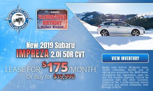 New 2019 Subaru Impreza 2.0i 5DR CVT