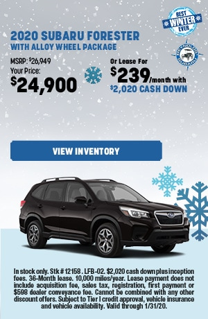 2020 Subaru Forester with Alloy Wheel Package