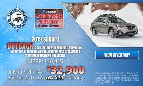 2019 Subaru Outback 2.5i Limited Demo Special